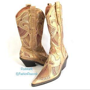 NWOT Donald J. Pliner Western Cowboy Boots Johny